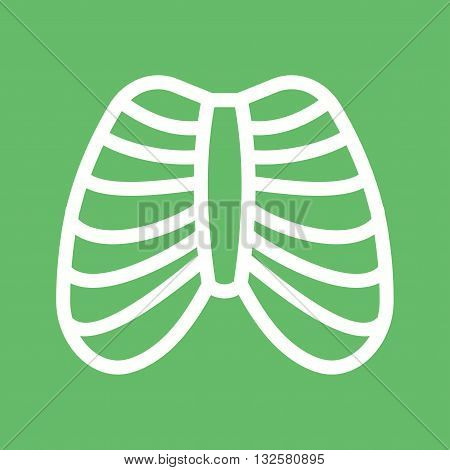 System, ribcage, shape icon vector image. Can also be used for human anatomy. Suitable for mobile apps, web apps and print media.