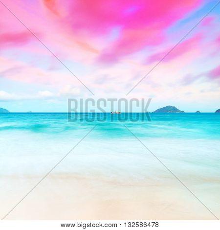 Sunset over the sea. Con Dao. Vietnam