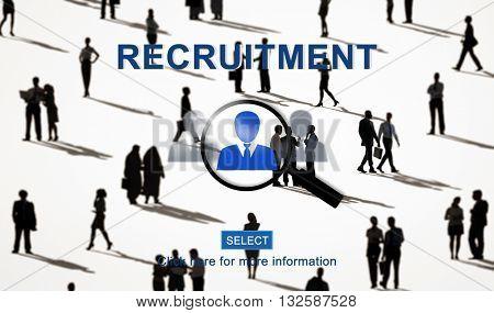 Recruitment Headhunting Employment Job Concept