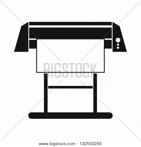 Large format inkjet printer icon in simple style isolated on white background