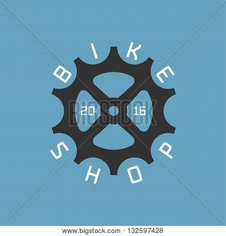 Bicycle shop vector logo design element. Biking concept