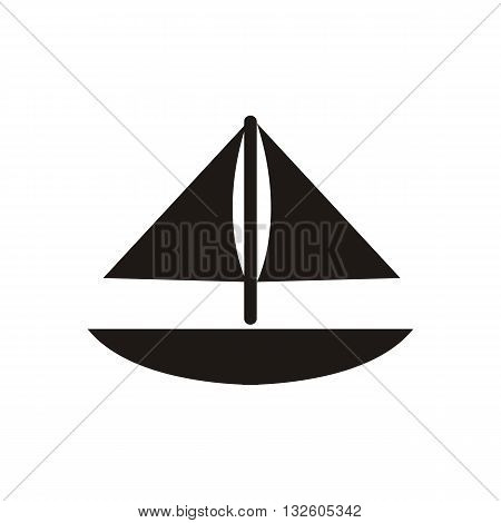 design Baby icon toy boat_Black vector illustration