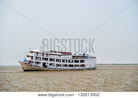 Boat On Dirty Water