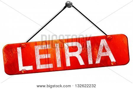 Leiria, 3D rendering, a red hanging sign