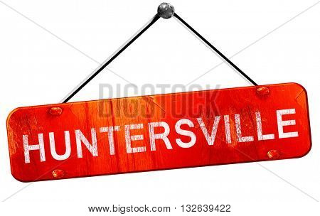 huntersville, 3D rendering, a red hanging sign