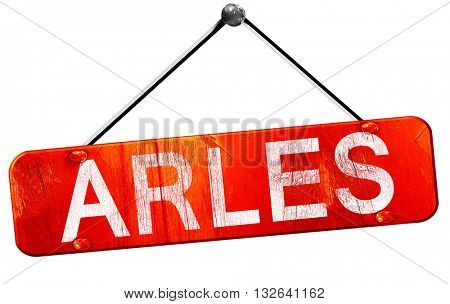 arles, 3D rendering, a red hanging sign