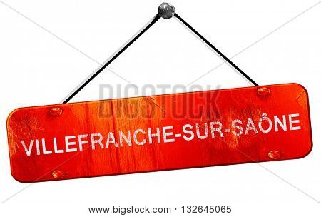 villefrance-sur-saone, 3D rendering, a red hanging sign