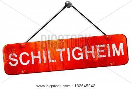 schiltigheim, 3D rendering, a red hanging sign