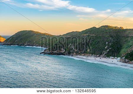Sunset At The  Crystalline Beaches Of Pontal Do Atalaia