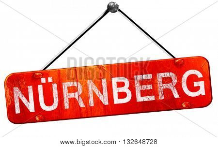 Nurnberg, 3D rendering, a red hanging sign