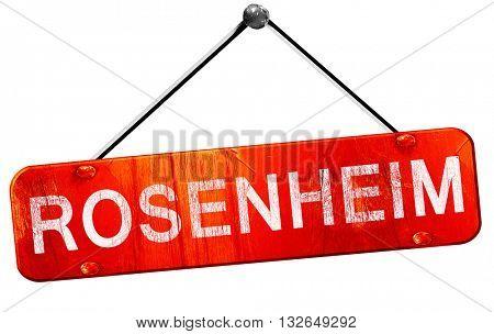 Rosenheim, 3D rendering, a red hanging sign