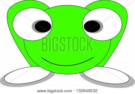 Green flog in vector for various utilities