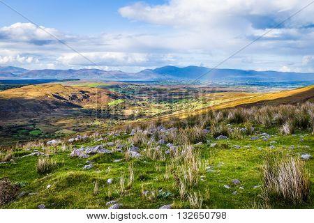Colourful Undulating Irish Landscape In Kerry