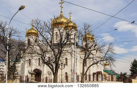 Kislovodsk, Russia - 28 February, The Orthodox Church in Kislovodsk, 28 February, 2016. Resort zone Mineral Waters, Krasnodar region.
