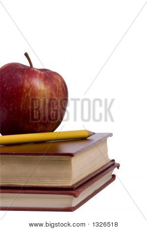 Education Series (Apple And Pencil On Book)