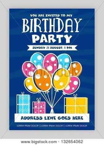 Birthday Party Invitation Card design