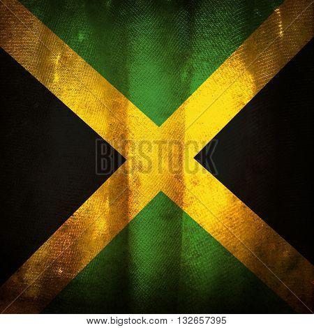 the old vintage grunge flag of Jamaica