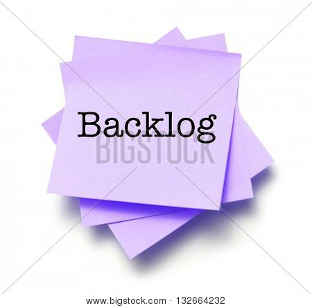 Backlog written on a note