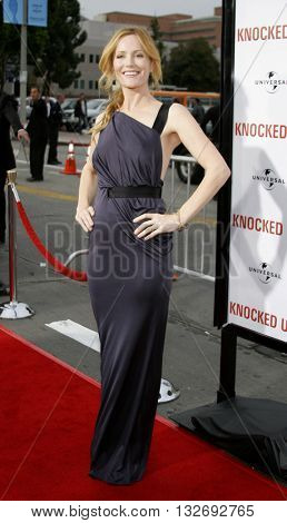 Leslie Mann at the Los Angeles premiere of 'Knocked Up' held at the Mann Village Theatre in Westwood, USA on May 21, 2007.