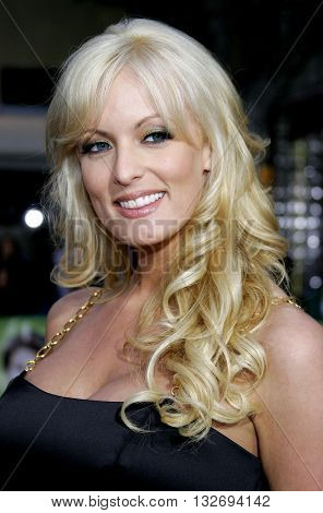 Stormy Daniels at the Los Angeles premiere of 'Knocked Up' held at the Mann Village Theatre in Westwood, USA on May 21, 2007.