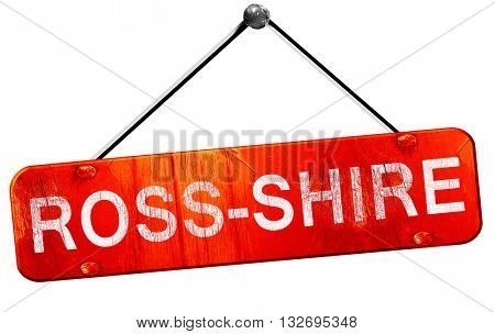 Ross-shire, 3D rendering, a red hanging sign