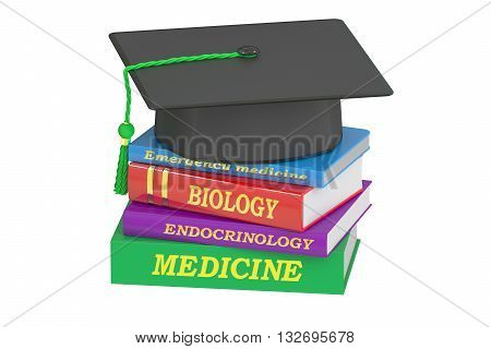 Medicine Education concept 3D rendering isolated on white background
