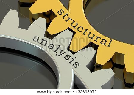 structural analysis concept on the gearwheels 3D rendering