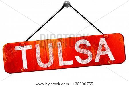 tulsa, 3D rendering, a red hanging sign