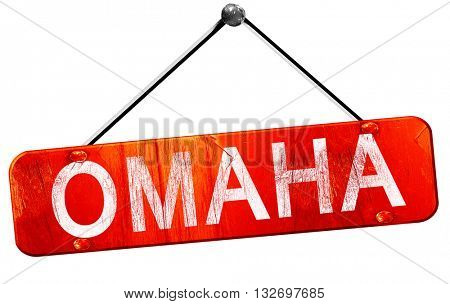 omaha, 3D rendering, a red hanging sign