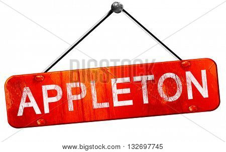 appleton, 3D rendering, a red hanging sign