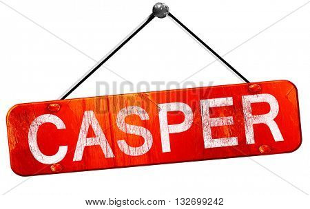 casper, 3D rendering, a red hanging sign