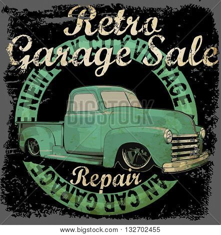 Vintage garage retro banner fashion style new trend