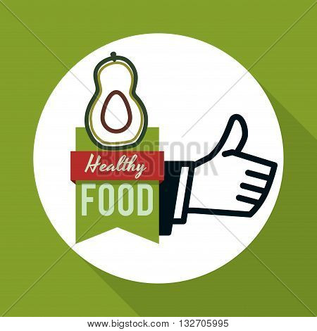 Healhy food concept with icon design, vector illustration 10 eps graphic.