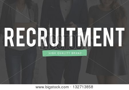 Recruitment Job Position Employment Manpower Concept