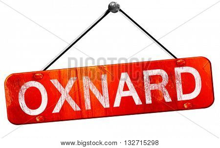 oxnard, 3D rendering, a red hanging sign