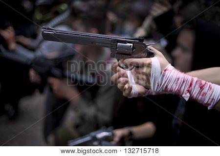 Hand And Gun