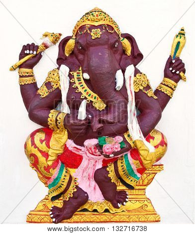 Indian or Hindu ganesha God Named Kasipra Ganapati at temple in thailand ;The conviction will be used hand to apply to the Lord for get the wishes.