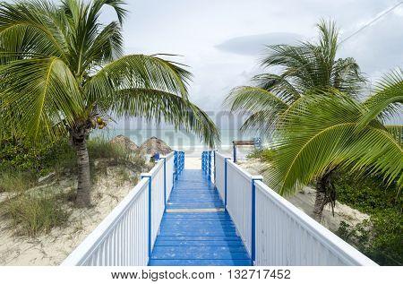 Entrance to the Playa Pilar in Cayo Guillermo - Ciego de Avila Province, Cuba.