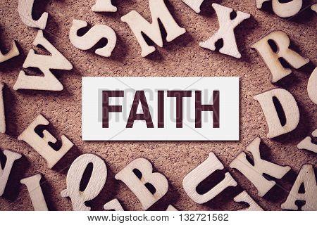 Faith Concept Word