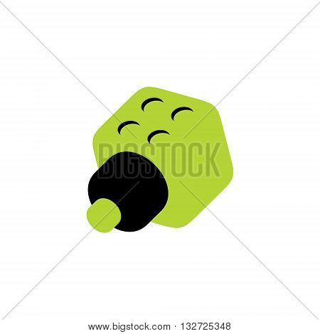Abstract anodes and cathodes Isolated on a White Background