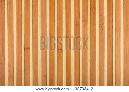 Bamboo beige mat as abstract texture background composition view from above