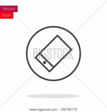 Smartphone Thin Line Icon. Smartphone Icon in circle. Vector Smartphone Icon. Round Smartphone Icon. Smartphone Icon On white background. Smartphone Icon Illustration.