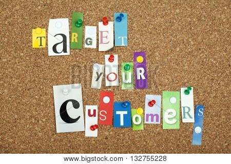 Target Your Customers Business Marketing Strategy Concept