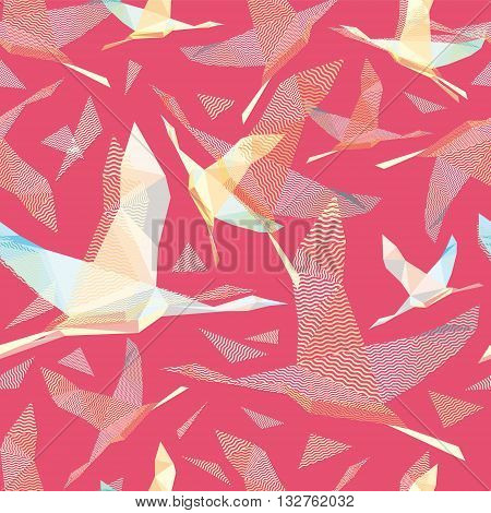 Shadoof, seamless shadoof background pattern, shadoof in flight, wildlife bird