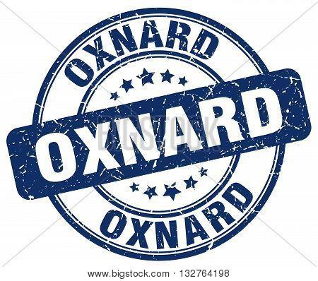 Oxnard blue grunge round vintage rubber stamp.