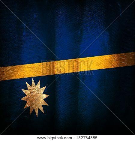 Old grunge old vintage flag of Nauru