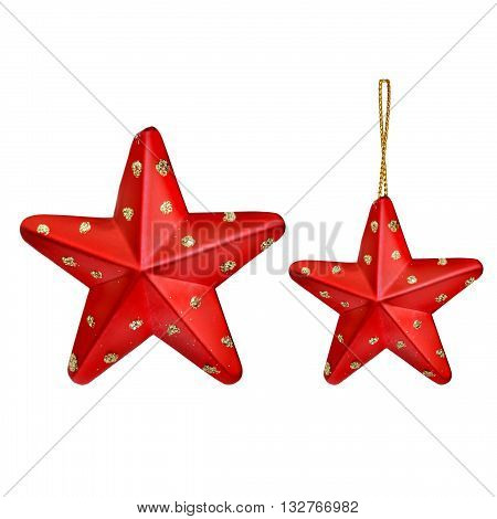 Christmas star isolated on white color background