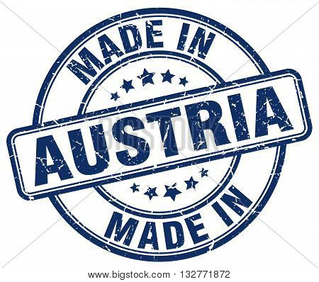 made in Austria blue round vintage stamp.Austria stamp.Austria seal.Austria tag.Austria.Austria sign.Austria.Austria label.stamp.made.in.made in.