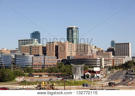 View of the Fort Worth Downtown. Texas United States
