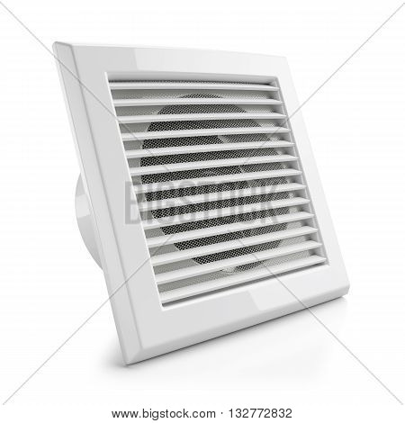 Electrical Air Vent Fan Isolated On White Background 3D
